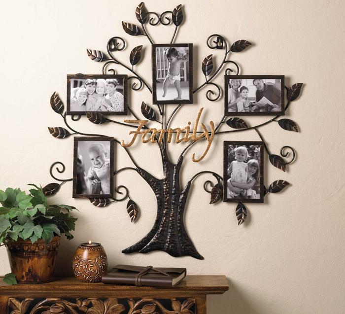 Decor de camera cu rame foto de familie arbore genealogic