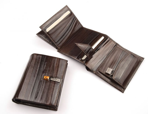 Portofel de piele pentru barbati cu cristal Swarovski - Cadouri de lux pentru barbati cu stil