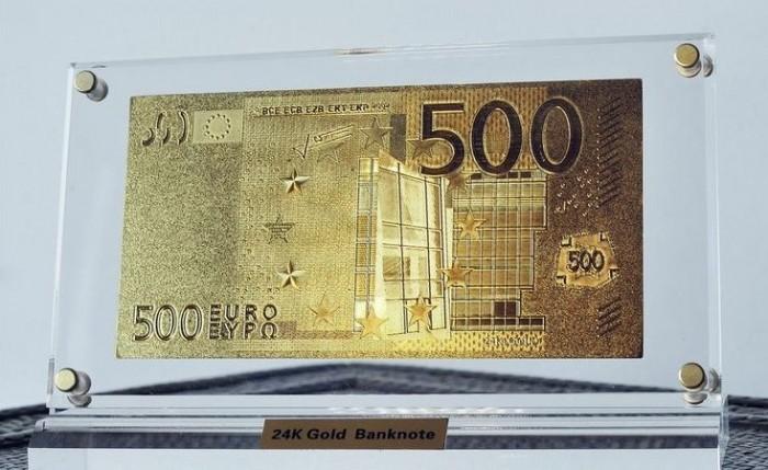 bancnota placata cu aur bani