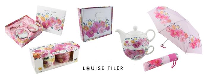 portelan cu decor floral de Louise Tiler