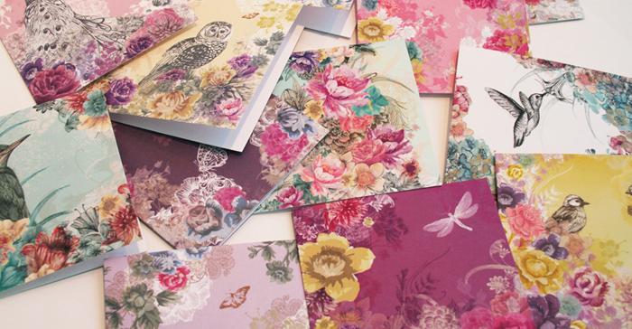 Felicitari cu decor floral Louise Tiler