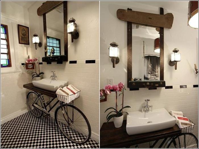 Idei de decor cu bani putini bicicleta veche redecorata