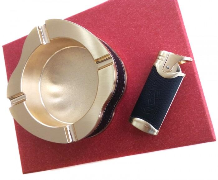 set cadou cu scrumiera si bricheta idei de cadouri pentru fumatori