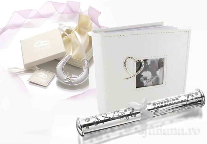 Album foto, potcoava si suport pentru certificat cadou pentru miri