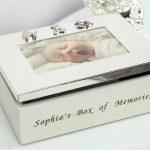 Caseta bebelusului cu rama foto – cadou Juliana