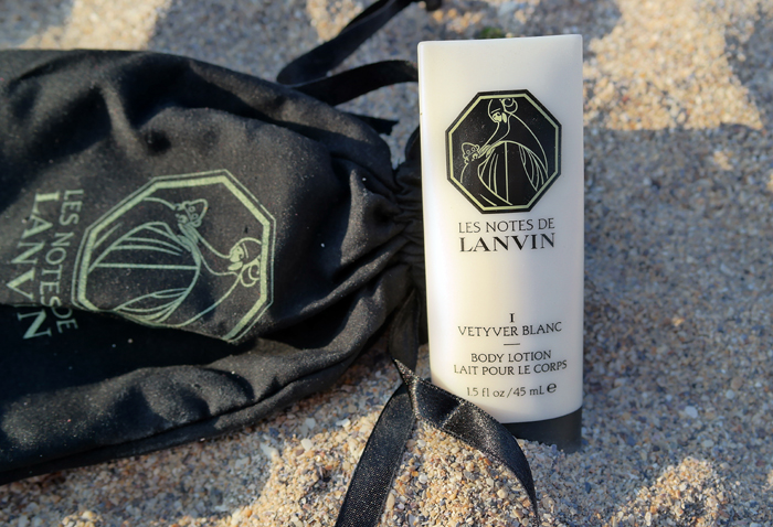 Set de vacanta Les Notes de Lanvin Vetyver Blanc