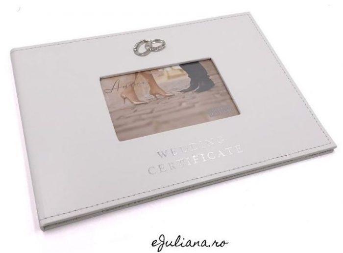 Carte suport pentru certificatul de casatorie Juliana