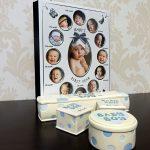 Cadou de botez pentru bebelusi cu album pentru primul an