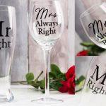 Pahare pentru bere si vin cadou pentru cuplu