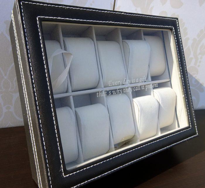 Cutie de ceasuri personalizata