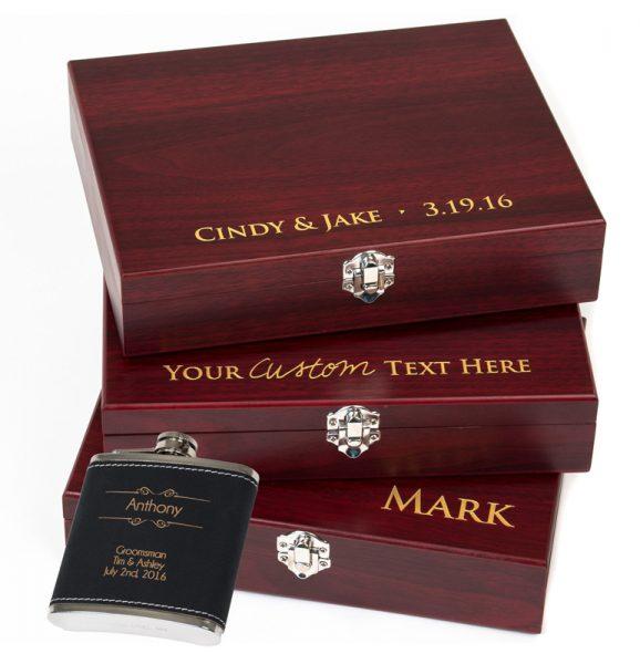 Accesorii pentru sticla de vin in cutie personalizata