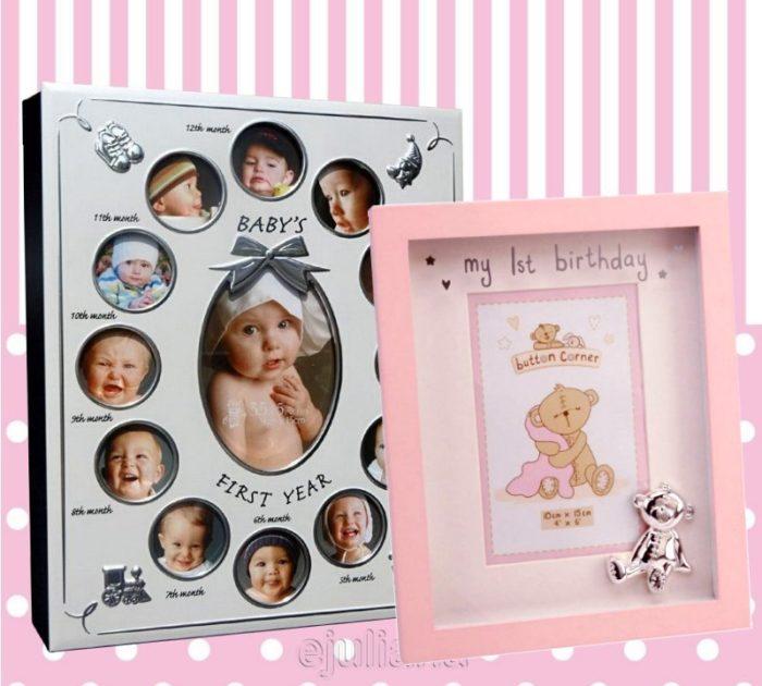 Album primul an si rama foto pentru fetita