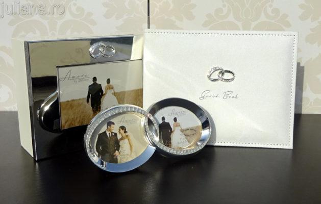 cadouri petnru miri, carte invitati rama verighete caseta nunta