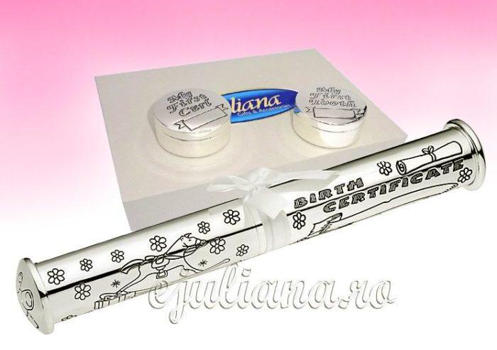 Cutiute petru prima suvita si primul dintisor suport pentru certificat de nastere
