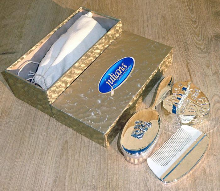 Set perie piaptan set bucla primul dintisor argintat