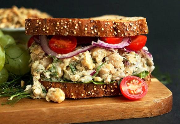 sandvis salata de ton vegana