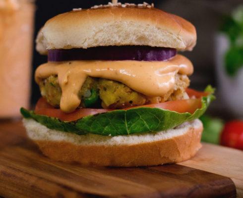 sos vegan pentru burgeri