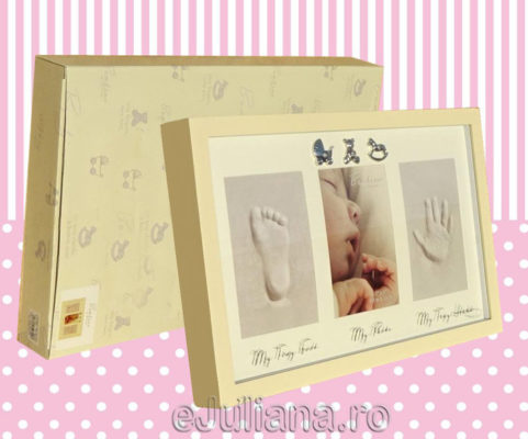 Rama amprenta cadou de botez pentru fetita