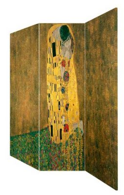Paravan despartitor decorativ cu pictura de Gustave Klimt