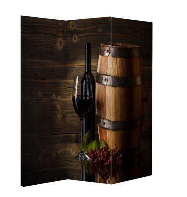 Paravan despartitor decorativ tema de vin