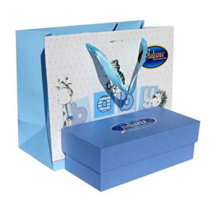 Punga si cutie de cadou pentru baietel Juliana