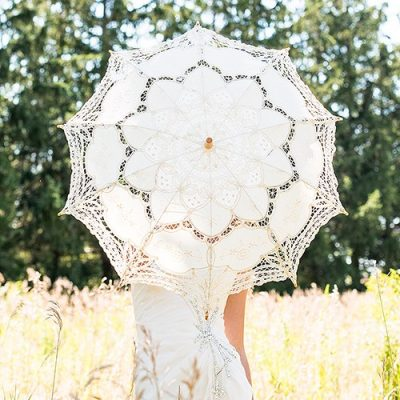Umbrela de dantela cu aspect vintage