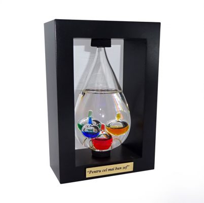 Termometru Galileo Galilei cadou personalizat pentru sef