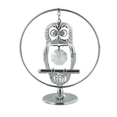 Bufnita, figurina cu cristale Swarovski