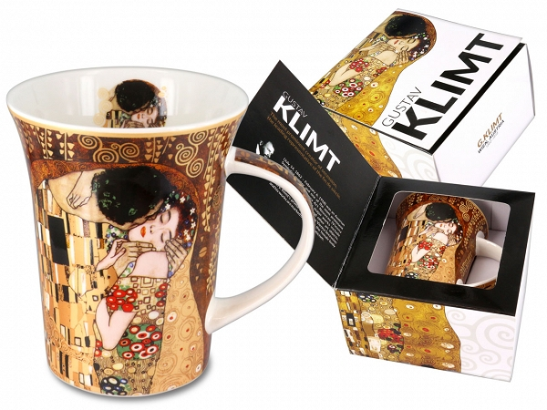 Cana de portelan The Kiss Gustave Klimt Carmani