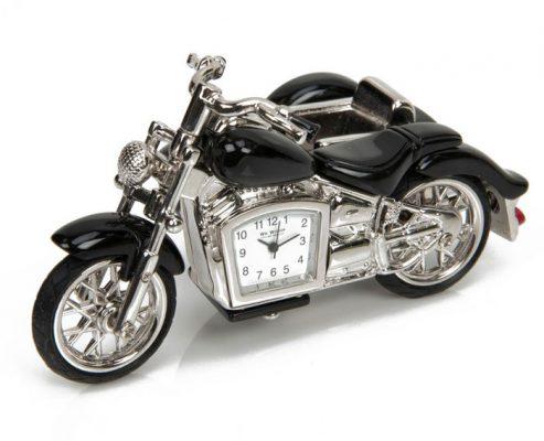 Cadou pentru motociclist, motocicleta cu ceas si atas